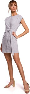 Sukienka Merg mini z okrągłym dekoltem trapezowa