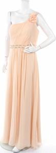 Pomarańczowa sukienka Niente bez rękawów maxi