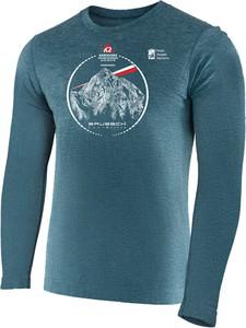 Niebieska bluza Brubeck z nadrukiem