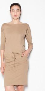 Sukienka Venaton z długim rękawem w stylu casual z bawełny