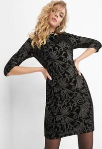 Czarna sukienka ORSAY z długim rękawem mini
