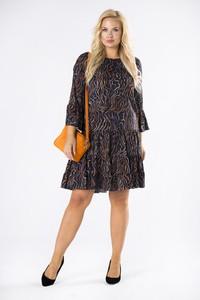 Sukienka Ptakmoda.com z długim rękawem trapezowa