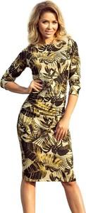 Sukienka NUMOCO midi z długim rękawem