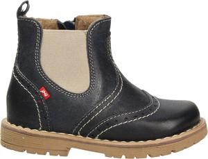 Czarne buty dziecięce zimowe EMEL ze skóry