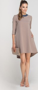 Brązowa sukienka Lanti oversize