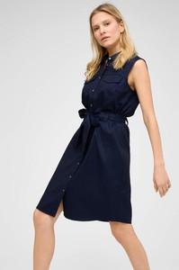 Niebieska sukienka ORSAY koszulowa bez rękawów