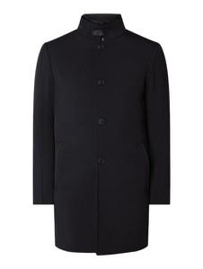 Granatowy płaszcz męski McNeal z wełny
