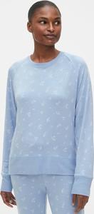 Niebieska bluza Gap krótka w stylu casual