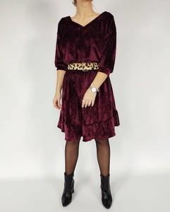 Sukienka Oscar Fashion z długim rękawem z dresówki