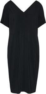 Czarna sukienka Persona by Marina Rinaldi w stylu casual z szyfonu midi