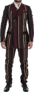 Brązowy garnitur Dolce & Gabbana z bawełny