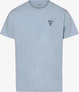 Niebieski t-shirt Guess z dżerseju