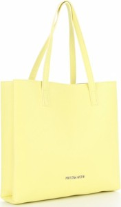 Żółta torebka VITTORIA GOTTI duża ze skóry matowa