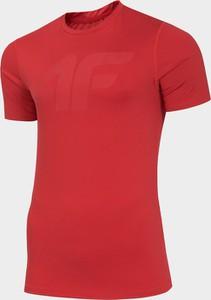Czerwony t-shirt 4F