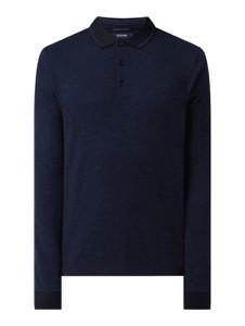 Granatowy t-shirt Pierre Cardin w stylu casual