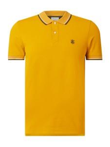 Żółta koszulka polo Selected Homme w stylu casual z bawełny