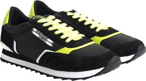 Czarne buty sportowe Trussardi sznurowane