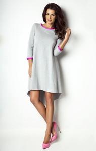 Sukienka Moda Dla Ciebie z bawełny z okrągłym dekoltem