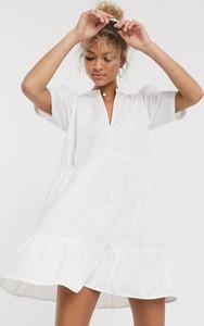 Sukienka Asos mini z dekoltem w kształcie litery v oversize