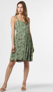 Zielona sukienka Noisy May midi z dekoltem w kształcie litery v