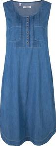 Niebieska sukienka bonprix bpc bonprix collection