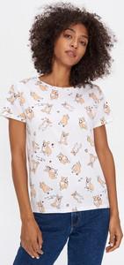 T-shirt House w młodzieżowym stylu z nadrukiem z okrągłym dekoltem