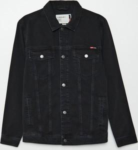 Czarna kurtka Cropp krótka z jeansu