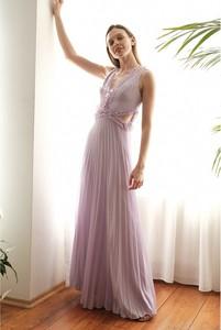 Fioletowa sukienka Trendyol