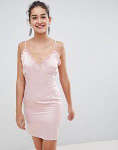 Różowa sukienka Glamorous