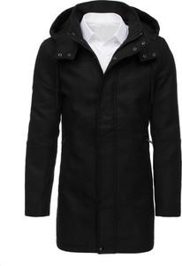 Czarny płaszcz męski Dstreet w młodzieżowym stylu