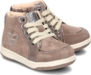 Buty dziecięce zimowe Geox sznurowane ze skóry