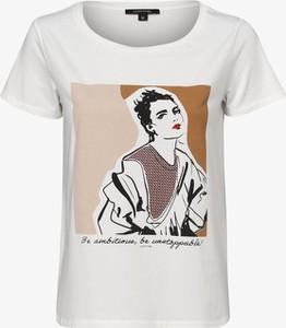 T-shirt comma, z nadrukiem z okrągłym dekoltem