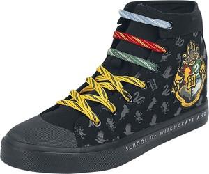 Czarne buty sportowe Harry Potter sznurowane