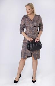 Sukienka Moda Dla Ciebie z długim rękawem