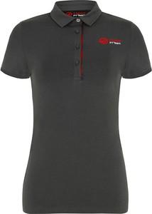 Czarny t-shirt Haas F1 Team w stylu casual z krótkim rękawem