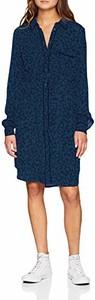 Niebieska sukienka amazon.de z długim rękawem w stylu casual mini