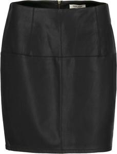 Czarna spódnica Naf naf w rockowym stylu