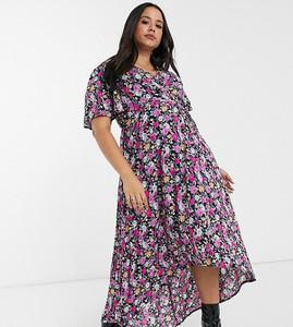 Sukienka Missguided Plus maxi z dekoltem w kształcie litery v