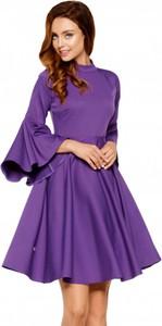Fioletowa sukienka Lemoniade mini z długim rękawem