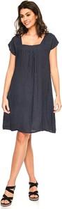 Sukienka Fleur De Lin mini z krótkim rękawem dla puszystych