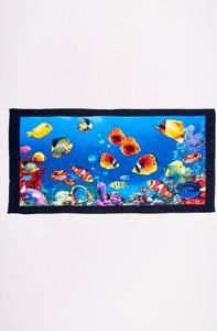Yoclub Ręcznik plażowy prostokątny rybki