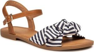 Sandały BASSANO z płaską podeszwą ze skóry w stylu casual