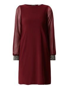 Czerwona sukienka Apricot prosta z długim rękawem