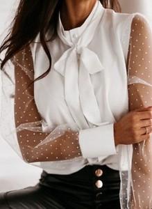 Bluzka Sandbella z długim rękawem z okrągłym dekoltem