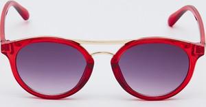 Czerwone okulary damskie Sinsay