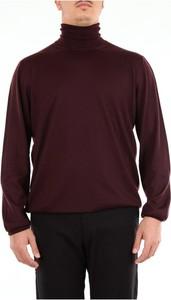 Czerwony sweter Barba w stylu casual z golfem
