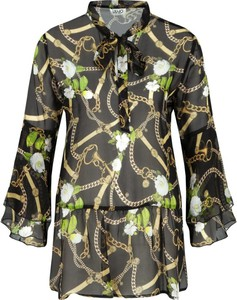 Bluzka Liu-Jo z jedwabiu ze sznurowanym dekoltem