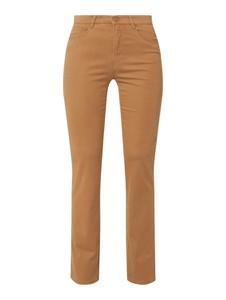 Brązowe spodnie Brax z bawełny