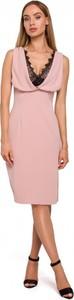Sukienka MOE bez rękawów z tkaniny z dekoltem w kształcie litery v