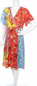 Sukienka 101 Indees kopertowa z krótkim rękawem z dekoltem w kształcie litery v